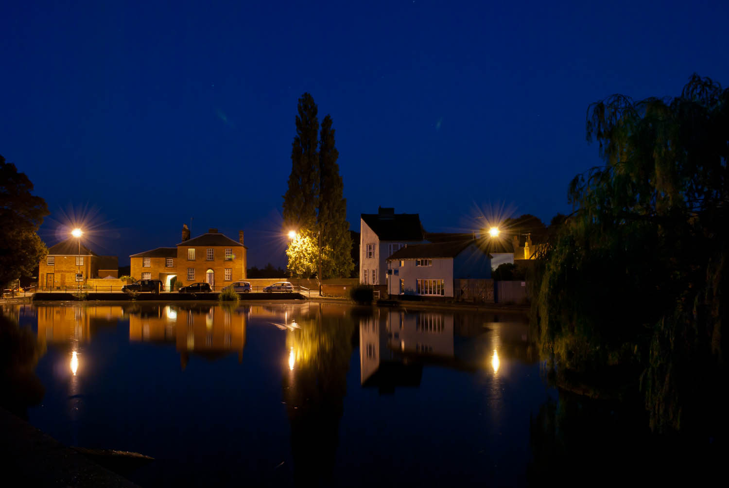Doctors Pond great Dunmow At Night
