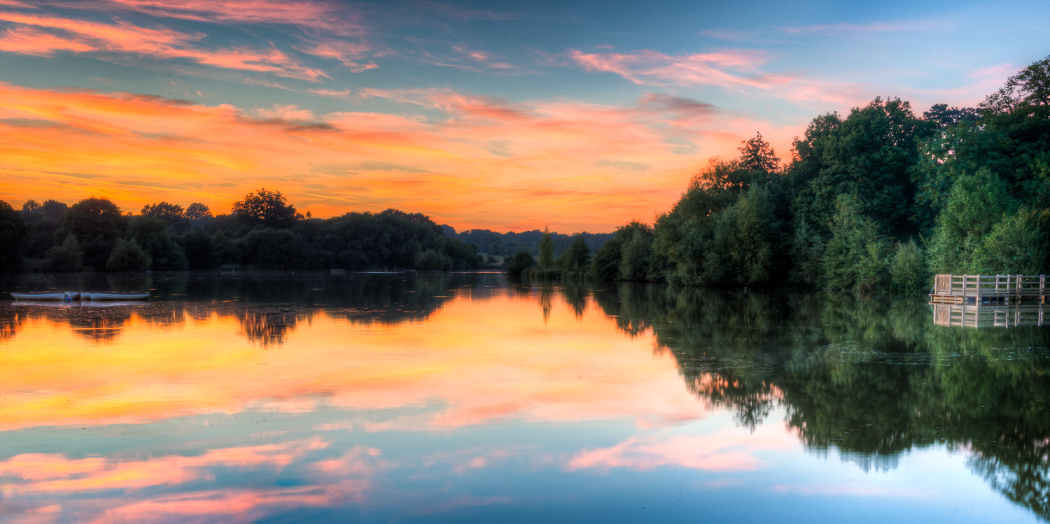 Hatfield Forest Lake at Sunset