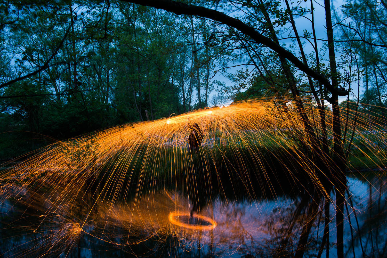 Sparks by the Pond