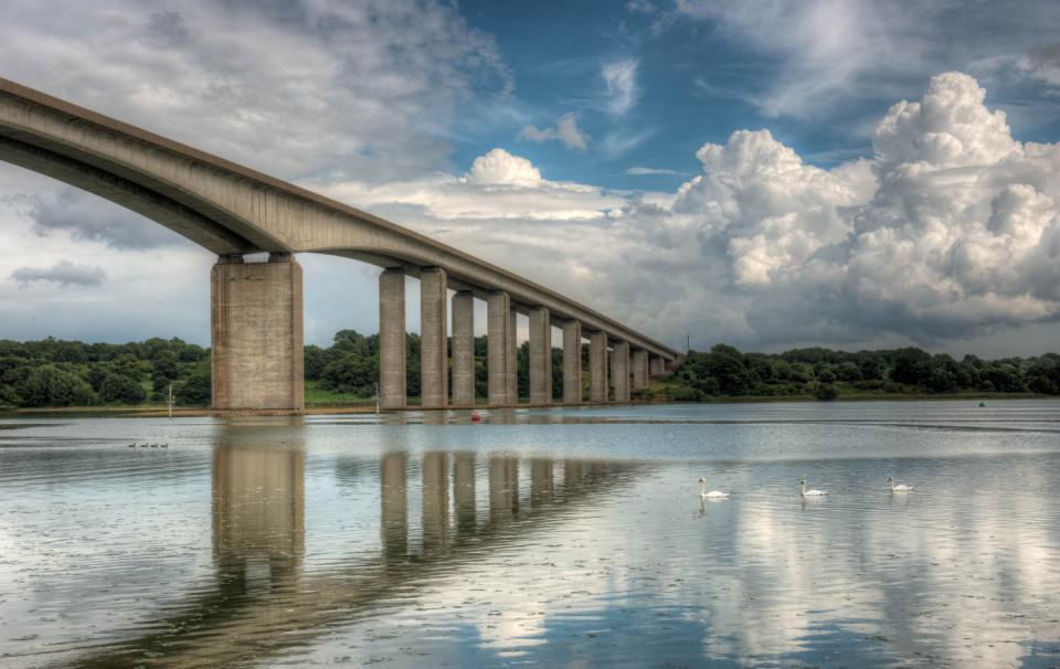 Heavy Traffic under the Orwell Bridge