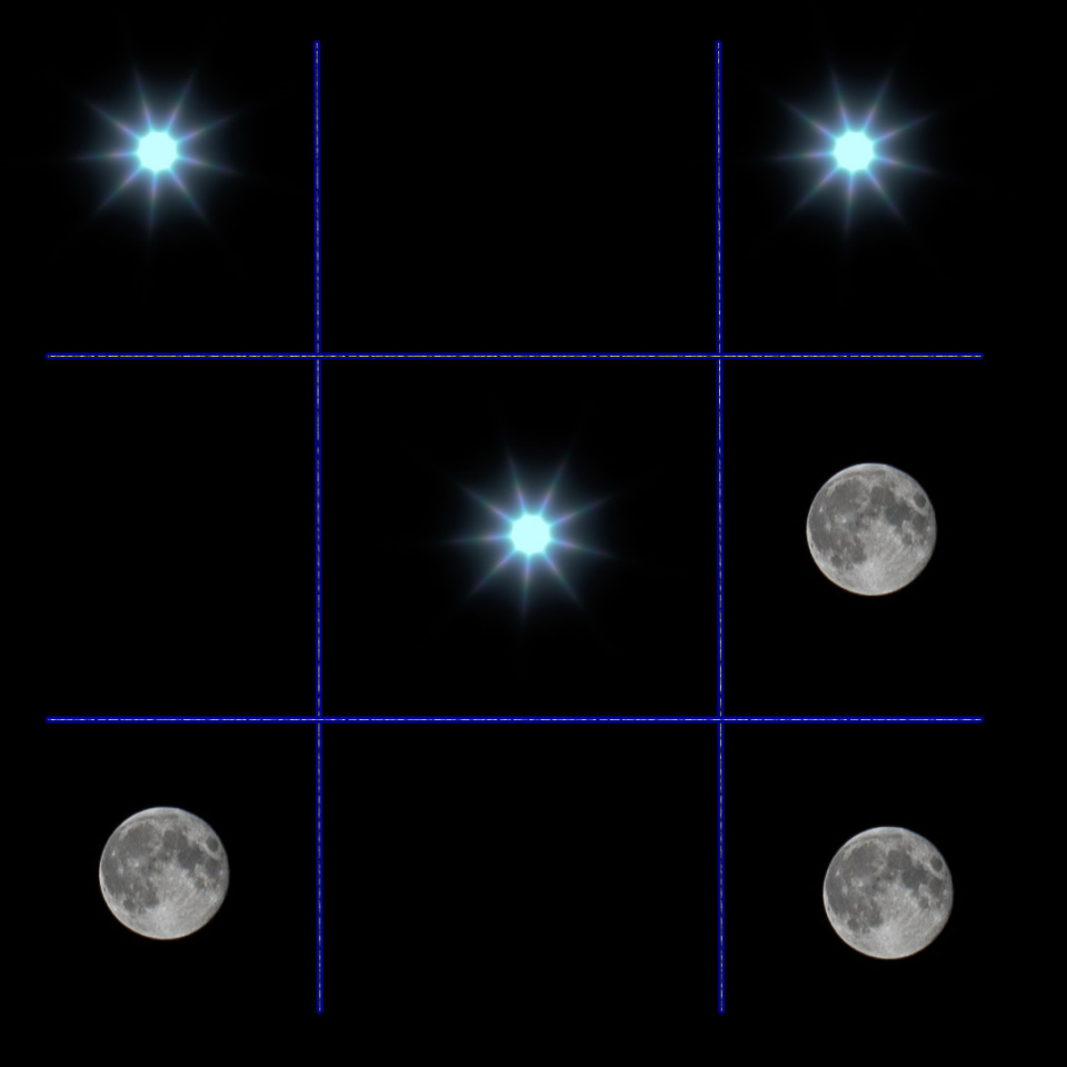 Celestial Noughts and Crosses