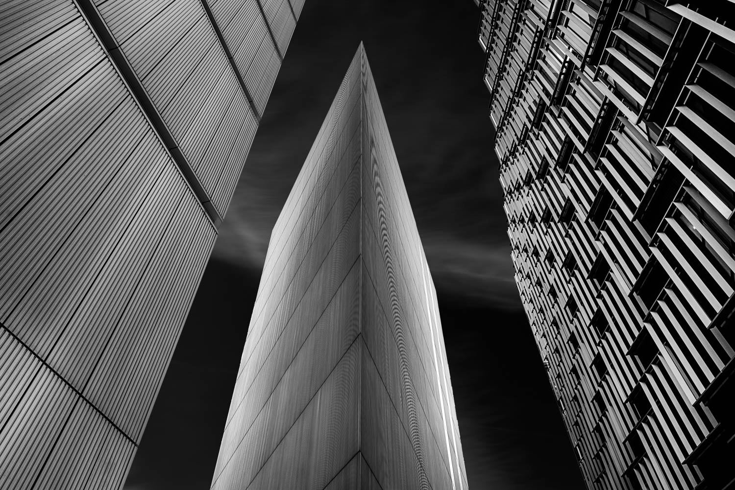 Architectural Lines black and white photograph