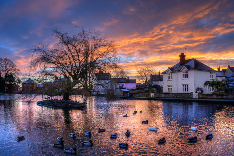 Doctors Pond Sunrise with added Ducks