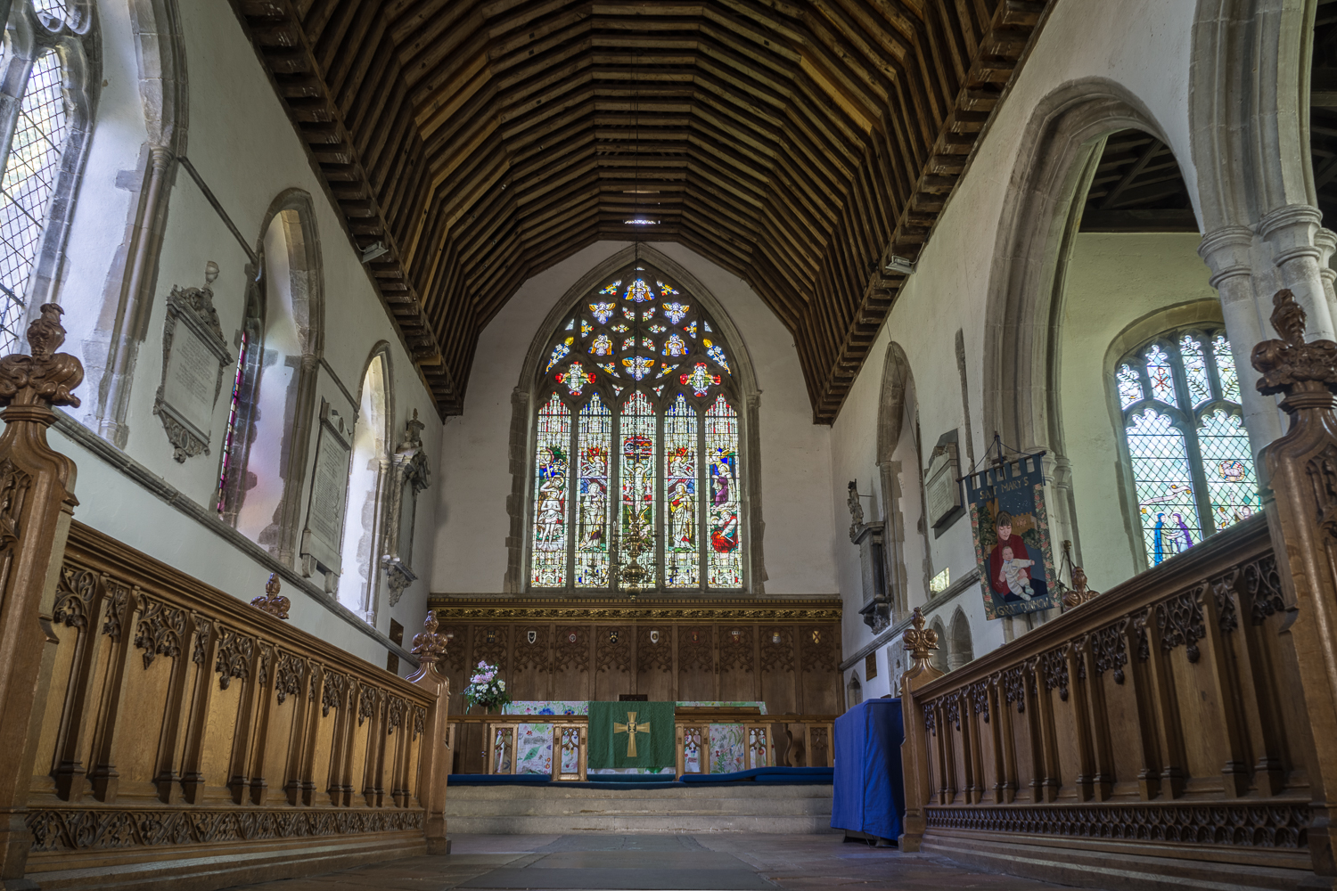 Inside St Mary's Church Great Dunmow