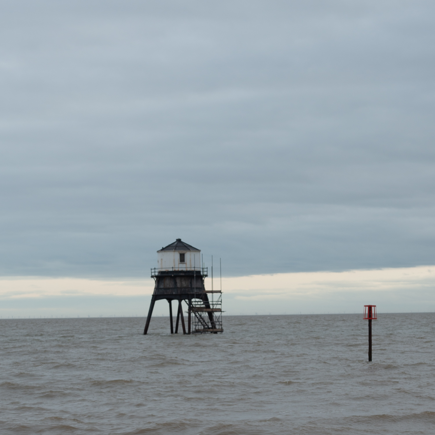 Dovercourt Lighthouse with Scaffolding