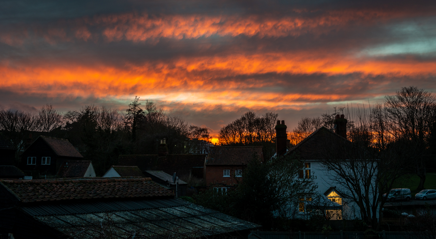 Sunset over Great Dunmow