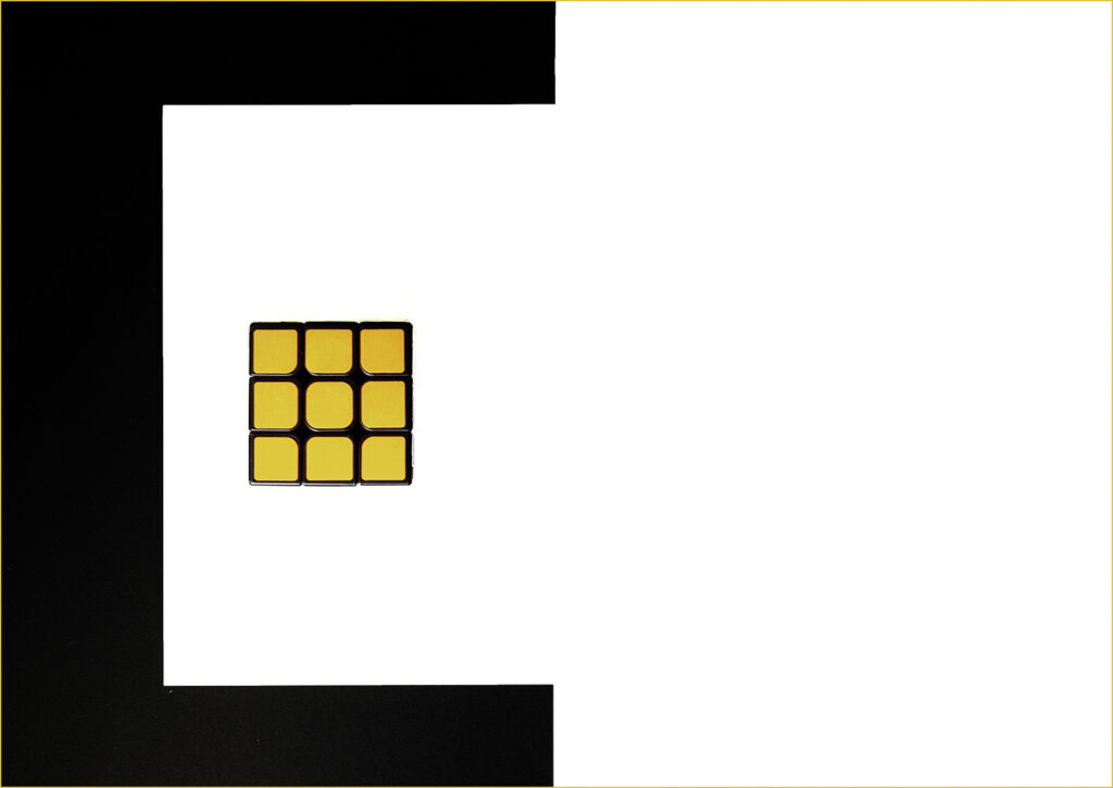 Yellow side of the Rubik's cube