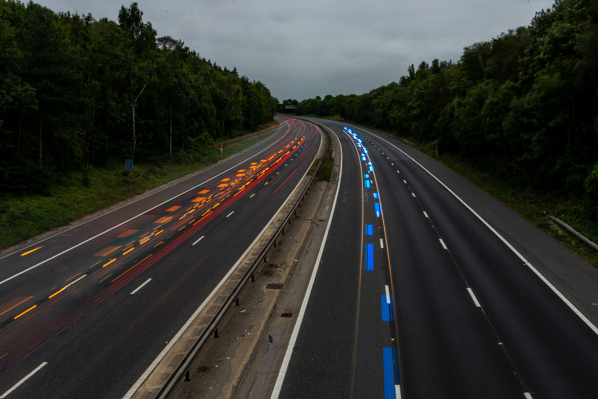 Red White and Blue down the M11
