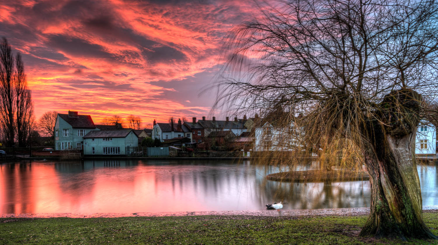 Sunrise on New Years Day over Doctors Pond, Great Dunmow