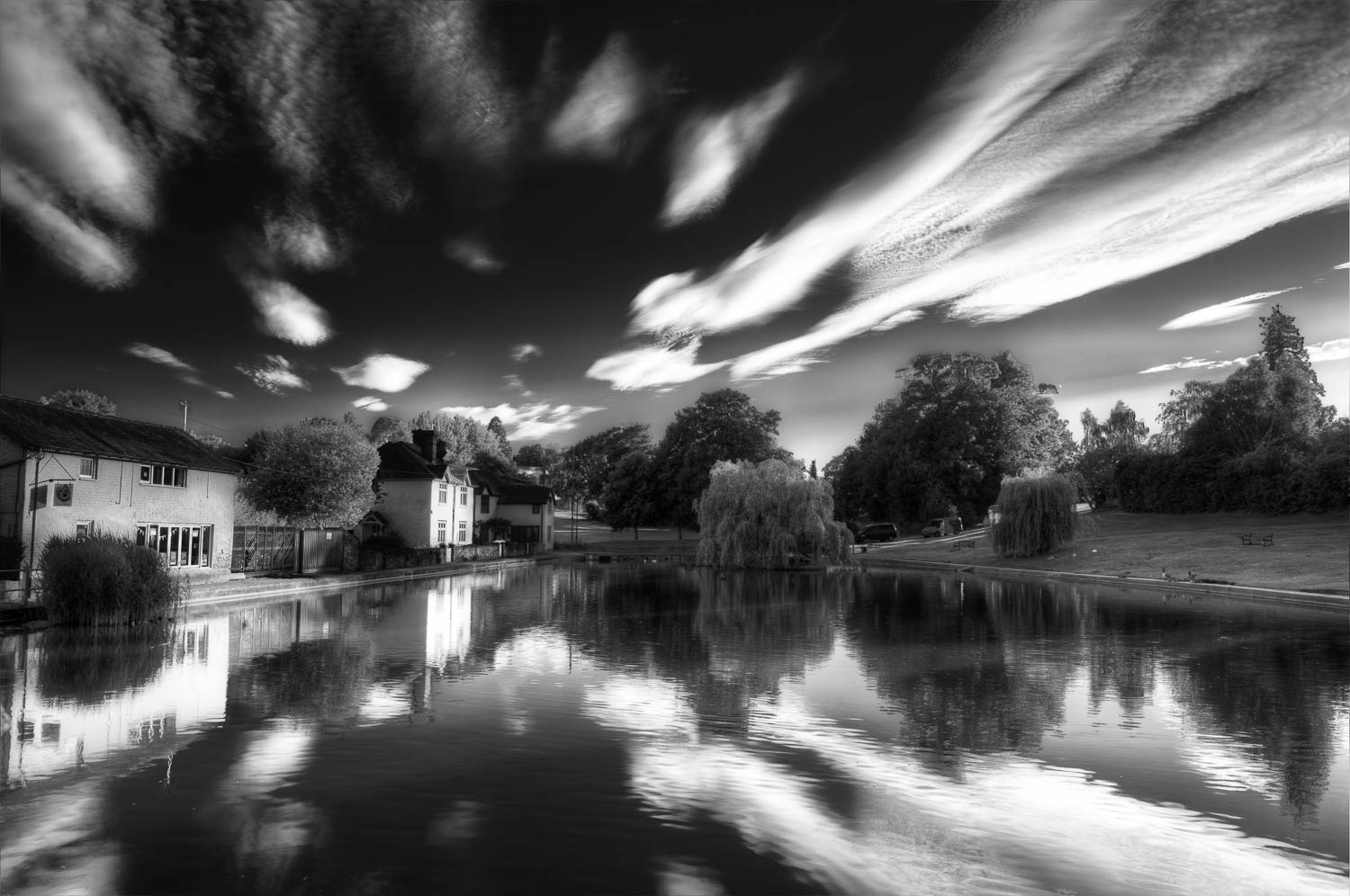Doctors Pond in Black and White