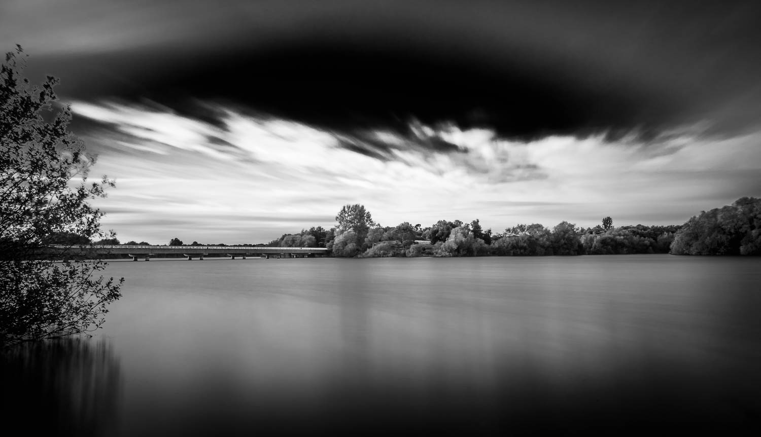 Alton Water at Lemons Hill - Black and White