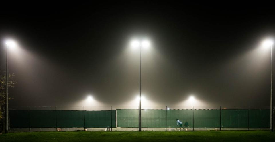 Tennis In The Fog