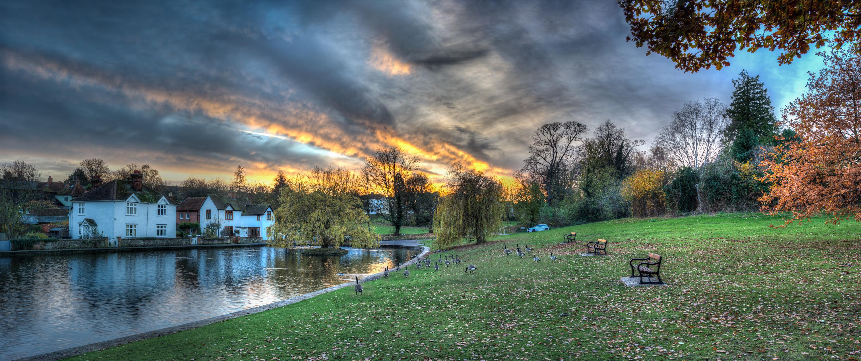 Autumn Sunset over Doctors Pond