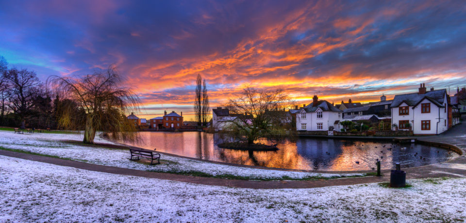 Doctors Pond Snowy(ish) Sunrise