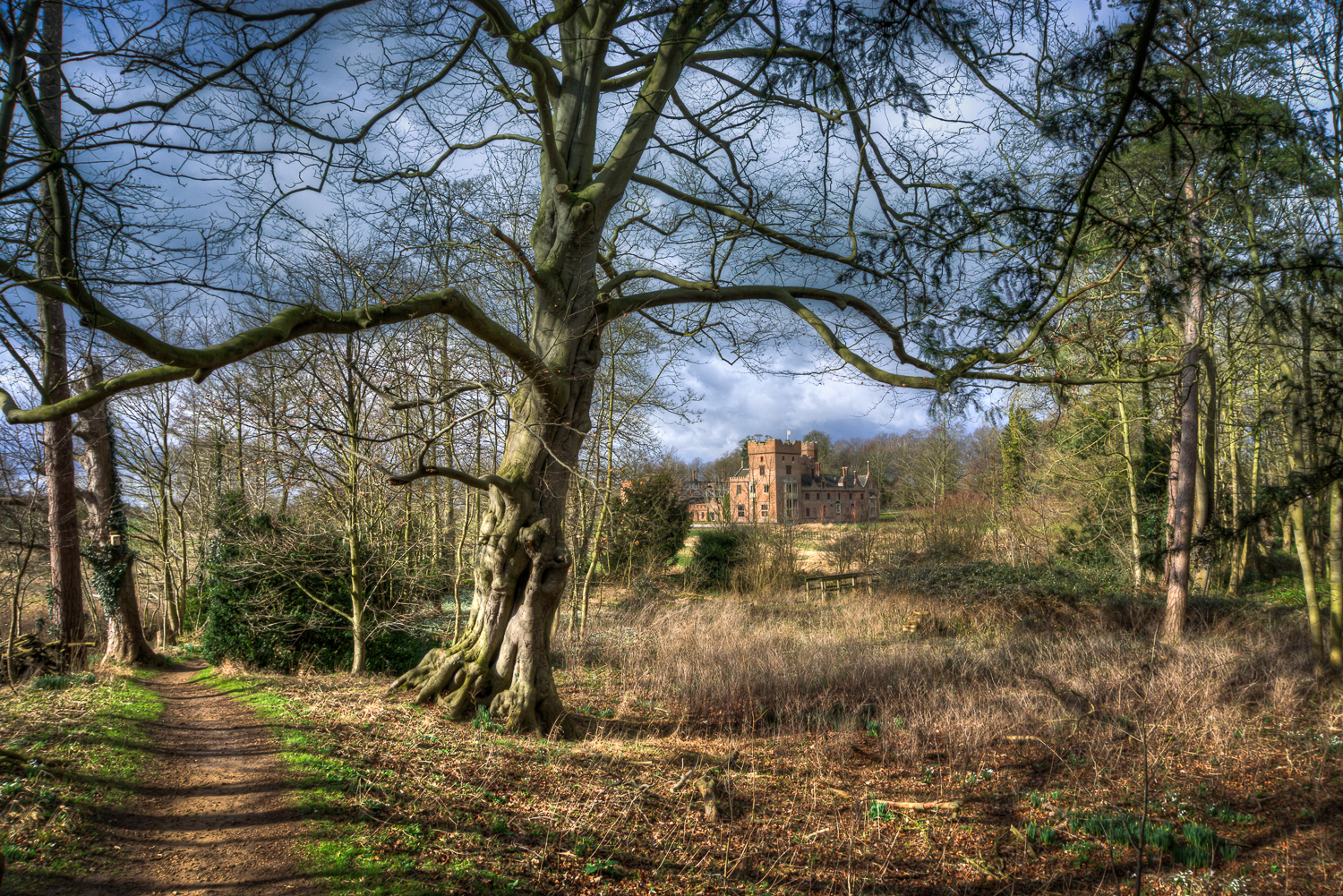 Walking To Oxburgh Hall