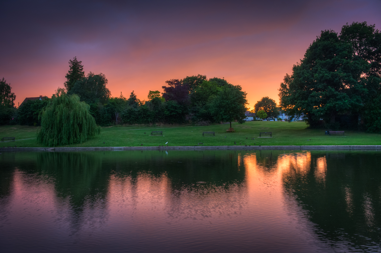 Sunset on Doctors Pond